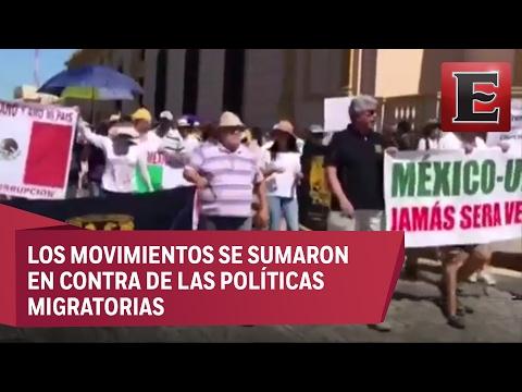 Marchas contra Trump en 15 estados de la República Mexicana