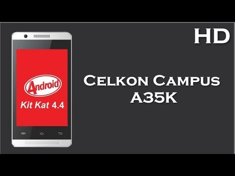 Celkon Campus A35K Price Specification Review, 1.0 GHz Core Processor, 256MB RAM, Android v4.4
