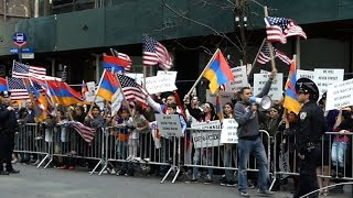 Armenian Protesters Marched to Turkish Consulate in NYC, 2018