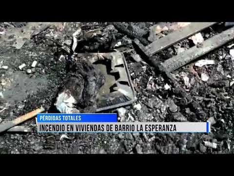 Una vivienda del barrio La Esperanza tomo fuego en la jornada de ayer.