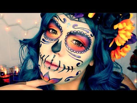 """Dia De Los Muertos"" Catrina Mexicana Tutorial Maquillaje *FACIL* Halloween | LoLo Love"
