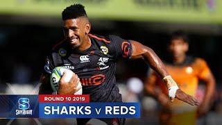 Sharks v Reds Rd.10 2019 Super rugby video highlights | Super Rugby Video Highlights