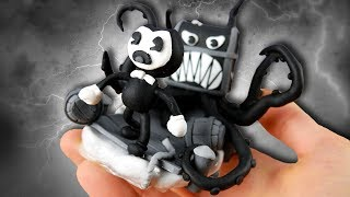 Making Bendy in Nightmare Run in POLYMER CLAY!