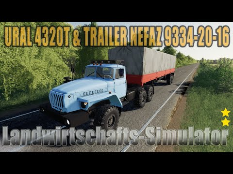 URAL 4320T & TRAILER NEFAZ 9334-20-16 v1.0