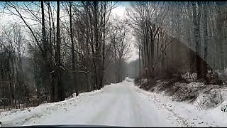 Milford (CT) United States  city pictures gallery : SNOWY DRIVE IN NEW MILFORD - CT - USA