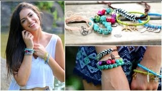 Quick & Cute DIY Stackable Bracelets! - YouTube