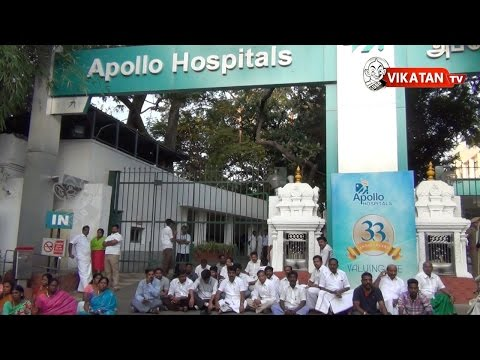 TN CM Jayalalitha hospitalised, AIADMK functionaries gather at hospital