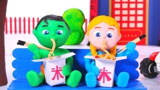 Video Tommy And His Friend Eating Chinese Food 💕 Cartoons For Kids MP3, 3GP, MP4, WEBM, AVI, FLV Juni 2019