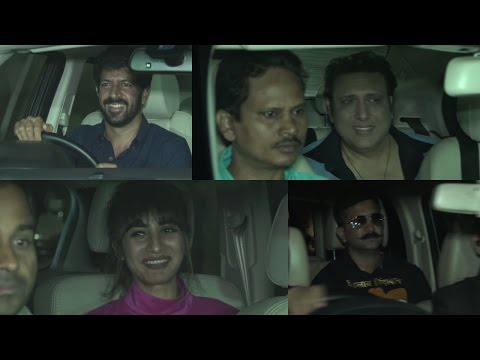 Govinda, Raj Kumar Rao Javed Akhtar & Others At Special Screening Of Rangoon