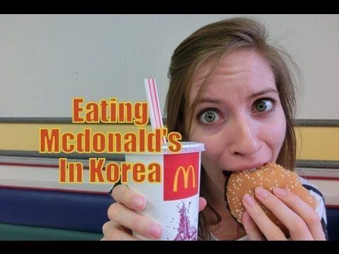 Eating Fast Food in Korea Mcdonald's Burgers and Fries