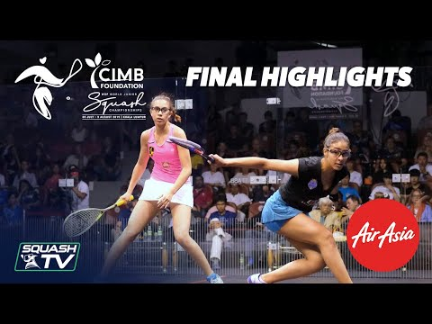 Squash: El Hammamy v Shiha - WSF World Junior Champs 2019 Women's Final Highlights