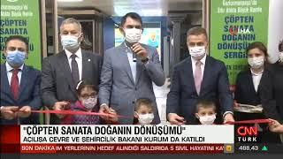''Çöpten Sanata Doğanın Dönüşümü'' Sergisi - Cnn Türk