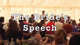 Bride Gives Funny Wedding Speech