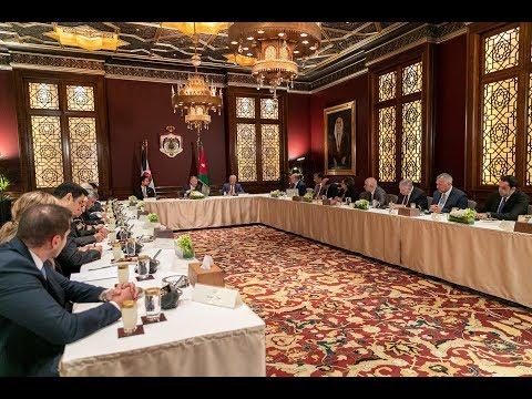 حديث جلالة الملك عبدالله الثاني خلال لقاء شخصيات سياسية واقتصادية وإعلامية