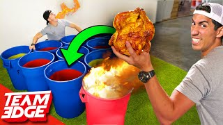 Giant Spicy Cup Pong!   Whole Chicken!!