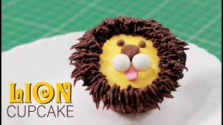 How To Make Animal Cupcake : Lion | Fluffy & Moist Cakes at Home | Easy and Adorable Cakes for Kids