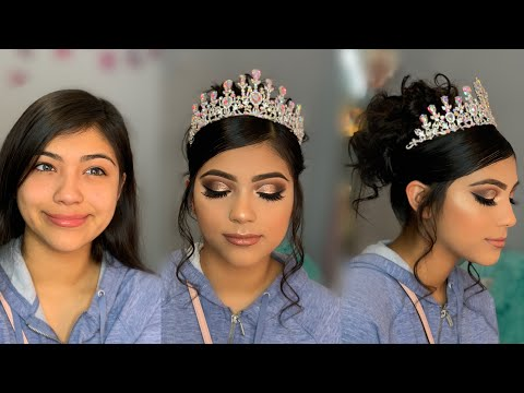 Quinceañera Glam 👑 | Makeup & Hair Tutorial | Makeup By Rosita
