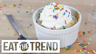 Funfetti Cake in 5 Minutes Flat | Eat the Trend by POPSUGAR Food