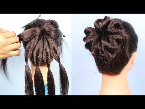 Heart Bun hairstyle 2019 for girls  Hair Style Girl  hairstyles  Best Hairstyles for long hair
