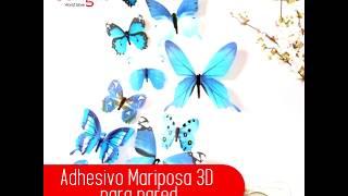 Adhesivo Mariposa 3D para pared