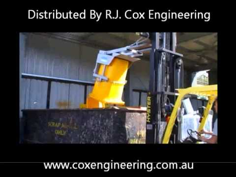 NWB Wheelie Bin Tipper/Lifter -Wheelie Bin Emptier for Forklifts Video Image