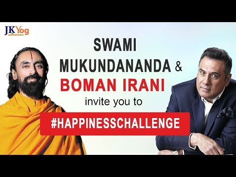 Quotes about happiness - Swami Mukundananda and Boman Irani Invite You to the Happiness Challenge