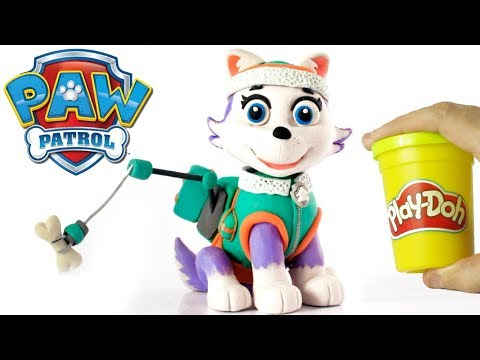 Everest Paw Patrol dog 💕 Superhero Play Doh Stop motion videos for kids