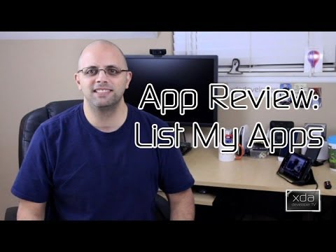 Video of List My Apps