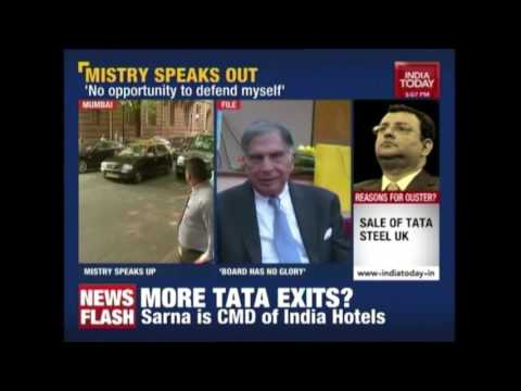 Removal Is Unparalleled, Says Cyrus Mistry