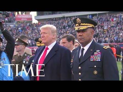 President Trump Officiated The Coin Toss At The Army-Navy Football Game   TIME
