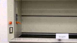 6′ Kewaunee Scientific Laboratory Fume Hood with Epoxy Tops Base Cabinets