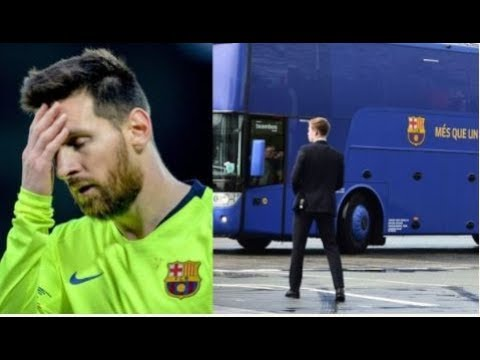 Here's The Real Reason Barcelona Team Bus Left Lionel Messi Behind At Anfield After Liverpool Defeat
