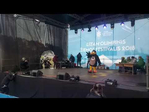 Krumka dances at LTEAM olimpinis žiemos festivalis 2018