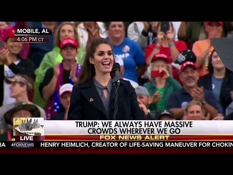 Hope Hicks KellyAnne DEC 17 2016 Mobile Alabama FINAL Thank You Rally Tour President Donald Trump HD