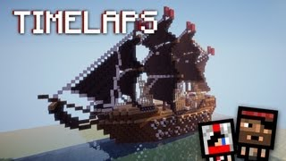 Timelapse - Пиратский корабль/Pirates Ship (minecraft)