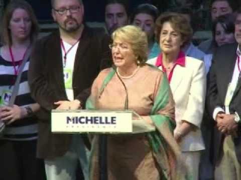 Michelle Bachelet vence as eleições presidenciais no Chile