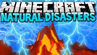 Minecraft Mods Natural Disasters! Natue Reborn Showcase! (Volcanoes in Minecraft) [1.6.4]