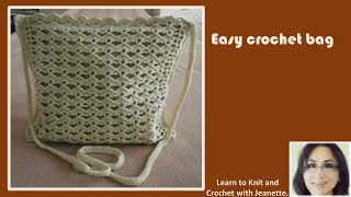 Easy crochet bag