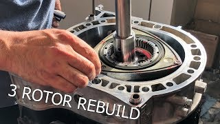 The most beautiful ROTARY ENGINE rebuild! Abel assembles the 3 Rotor