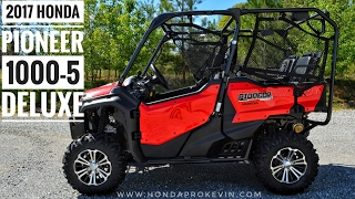 7. 2017 Honda Pioneer 1000-5 Deluxe Review of Specs & Walk-Around | Red SXS10M5D | UTV / SXS
