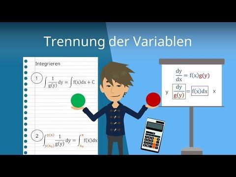 Trennung der Variablen (Differentialgleichungen einfach erklärt)