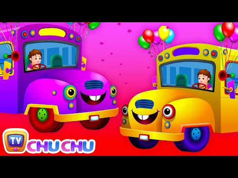 Wheels on the Bus Go Round and Round Rhyme with Lyrics – English Nursery Rhymes for Children