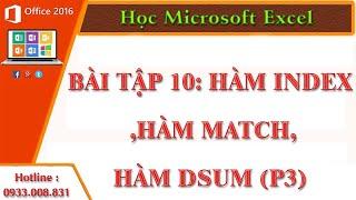 Hàm Index ,Hàm Match,Hàm Dsum