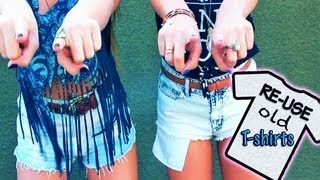 Ways to Upcycle Old T-Shirts! - AndreasChoice - YouTube
