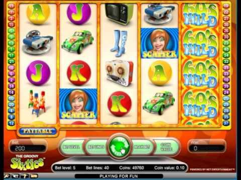 Игровой процесс на автомате Клевые Шестидесятые (retro groovu 60s) - бонусный режим, правила