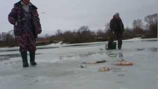 Ловля на течении зимой-,шарик,дергуша..avi