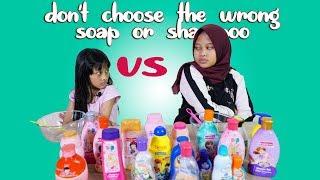 Video Don't Choose the Wrong Soap or Shampoo Slime Challenge MP3, 3GP, MP4, WEBM, AVI, FLV Maret 2019