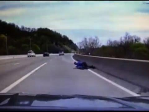 NJ Cop Tackles Man Trying To Jump Off Bridge