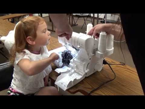 Babylock Sergers - So easy a four year old can thread them!