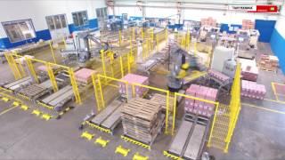 Sistema de Paletização Robotizado - Laticinio Lider